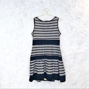 Just Taylor textured stripe fit and flare dress